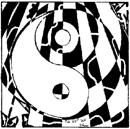 psychedelic ying yang maze