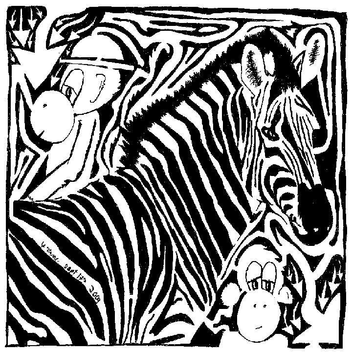 Zebra Maze Comic