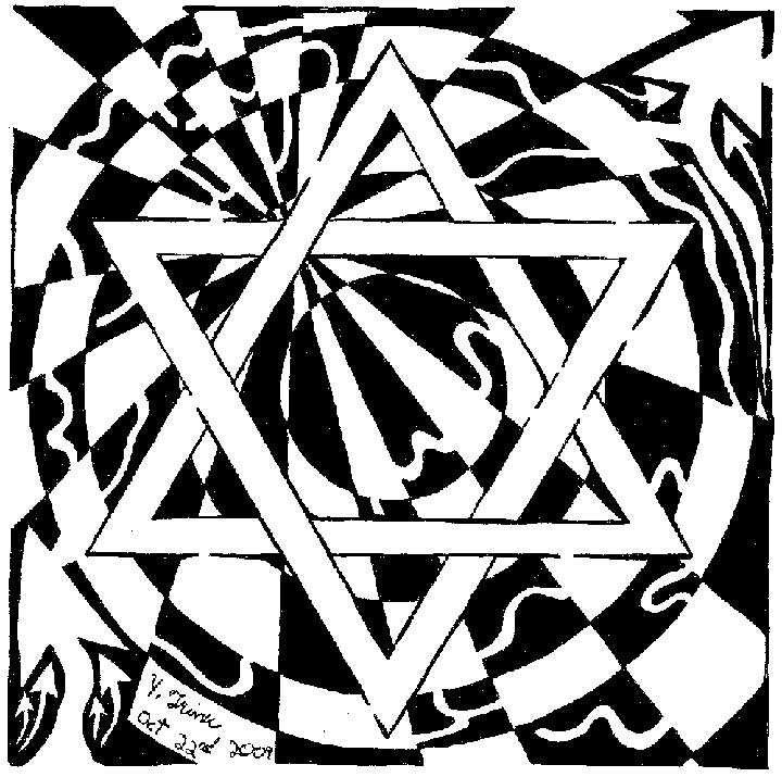 Magen David Maze - Star of david the maze, psychedelic art